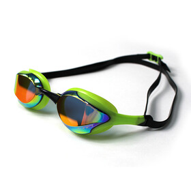 Zone3 Volaire Streamline Okulary pływackie, mirror lens-green/black